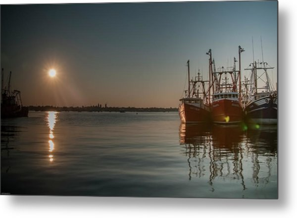 Sunrise Over New Bedford, Metal Print