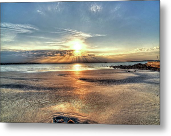 Sunrise Over Red Rock Park Lynn Ma Kings Beach Metal Print