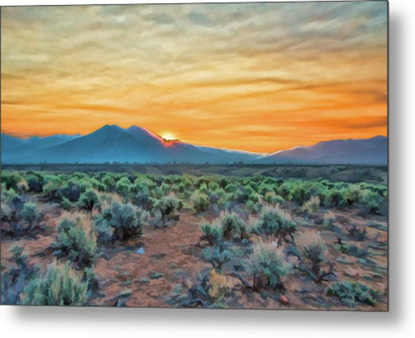 Sunrise Over Taos Metal Print