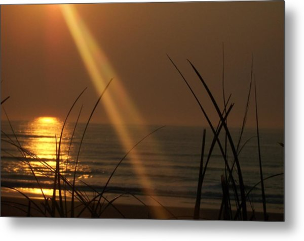 Sunrise Over The Atlantic Metal Print by James and Vickie Rankin