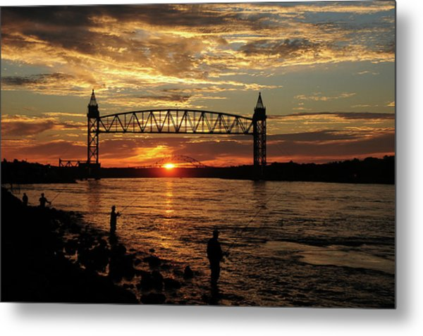 Sunrise Over The Canal Metal Print by Nancy Marshall