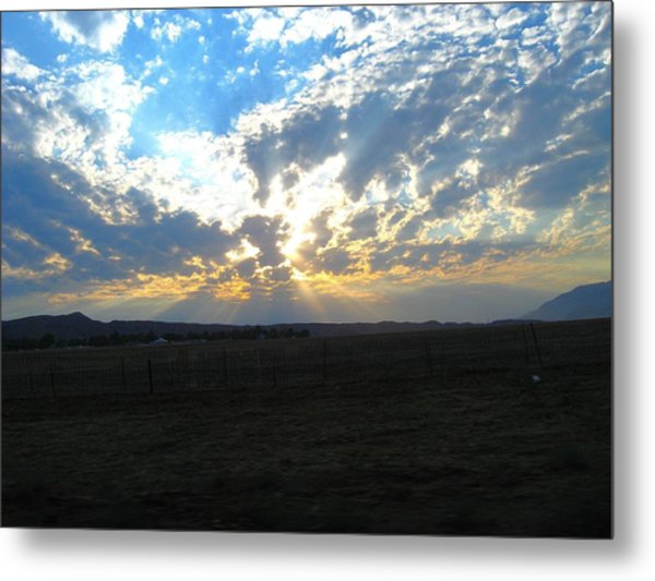 Sunrise Over The Pass Metal Print by Mitch Hino