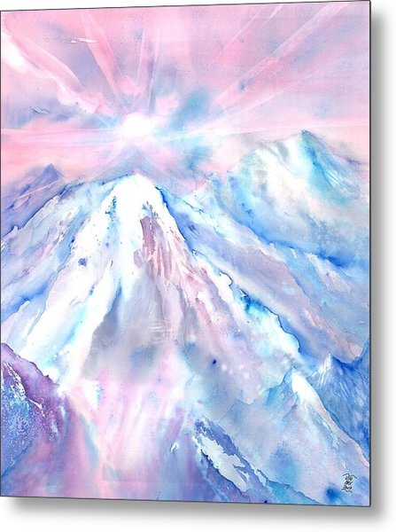 Swiss Mountains With Sunrise Metal Print