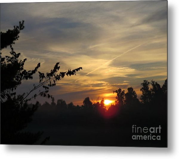 Sunrise Over The Trees Metal Print