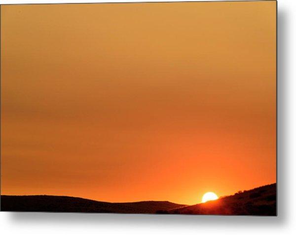 Sunrise Over The Umtanum Ridge Metal Print
