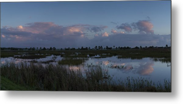 Sunrise Over The Wetlands Metal Print
