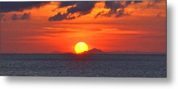 Sunrise Over Western Cuba Metal Print