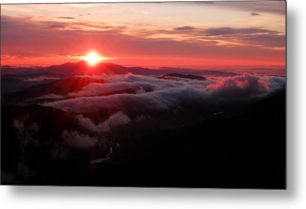 Sunrise Over Wyvis Metal Print