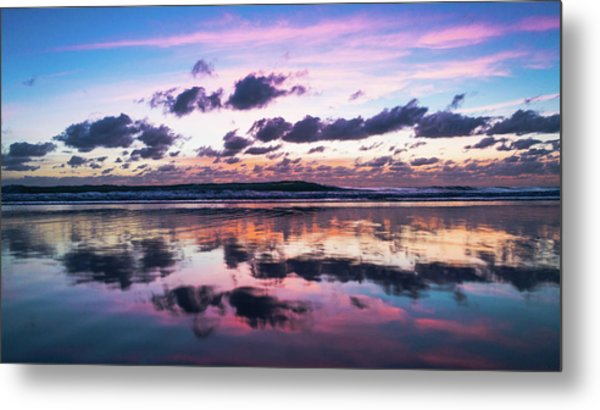 Sunrise Pink Wisps Delray Beach Florida Metal Print