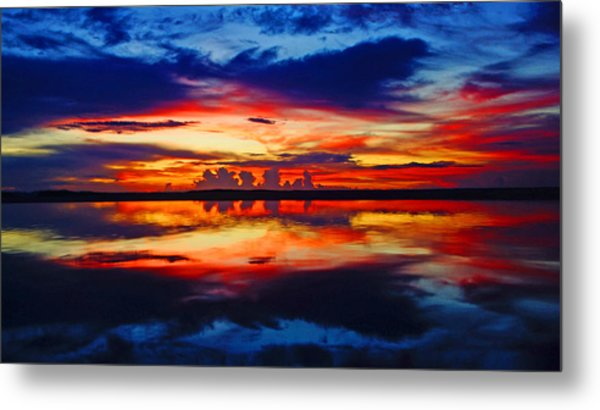 Sunrise Rainbow Reflection Metal Print
