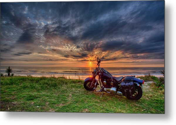 Sunrise Ride Metal Print