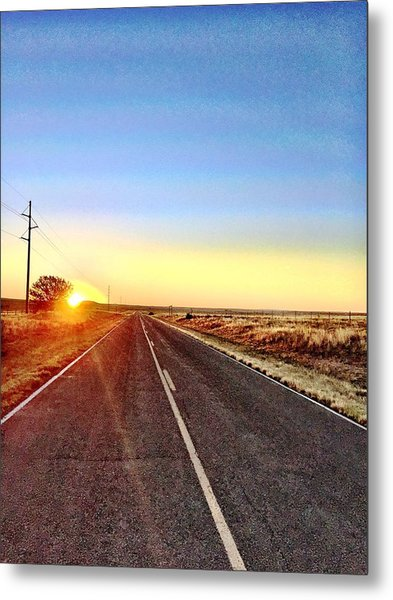 Sunrise Road Metal Print