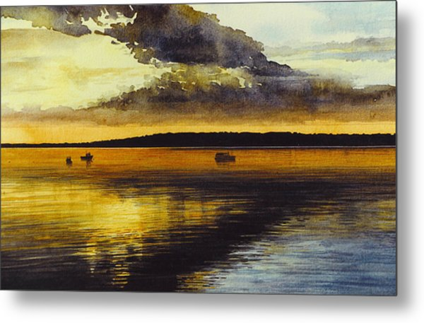 Sunrise Rockland Harbor Metal Print