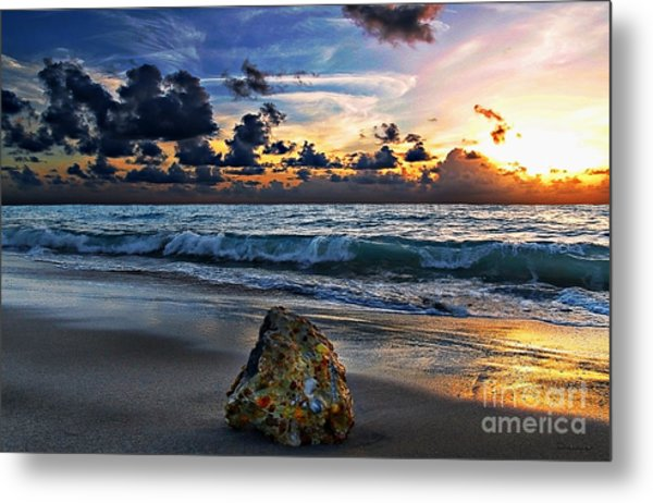 Sunrise Seascape Wisdom Beach Florida C3 Metal Print