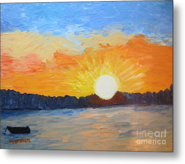 Sunrise At Pine Point Metal Print