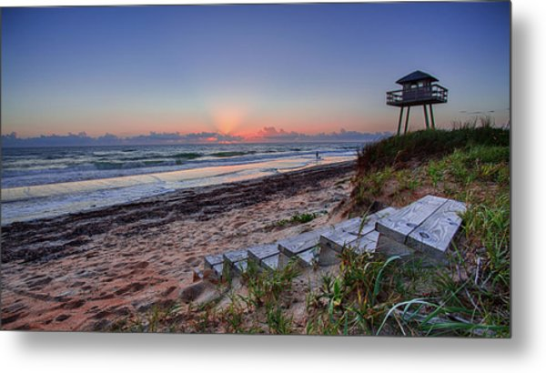 Sunrise Stairs Metal Print
