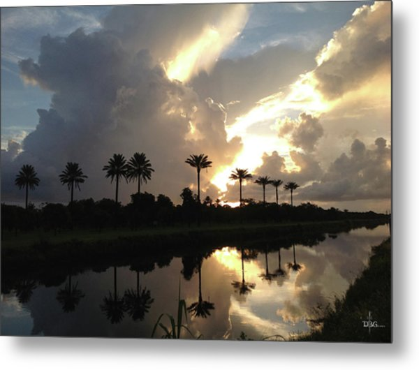 Sunrise Storm Metal Print