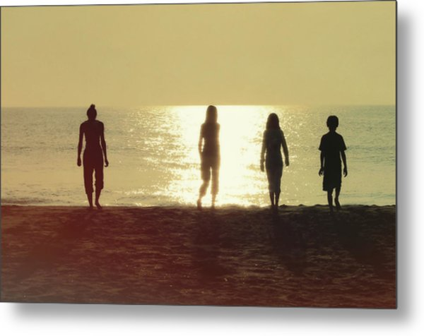 Sunrise Strolling Metal Print by JAMART Photography