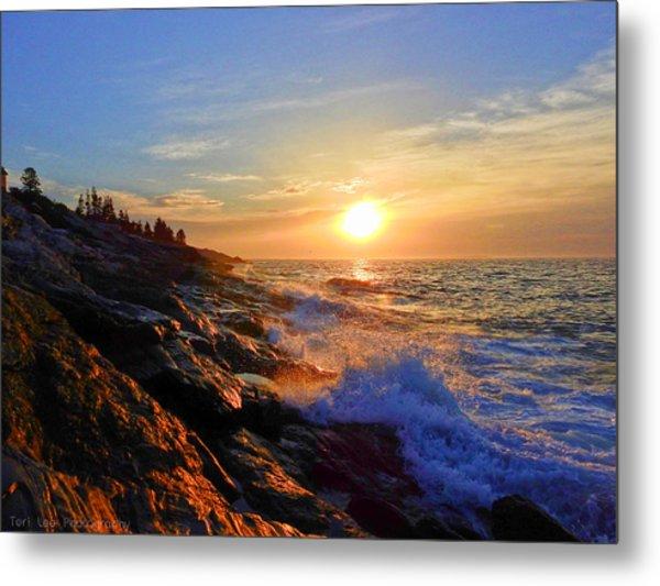 Sunrise Surf Metal Print