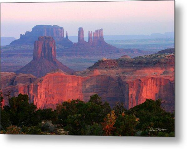 Sunrise Telephoto From Hunt's Mesa Metal Print
