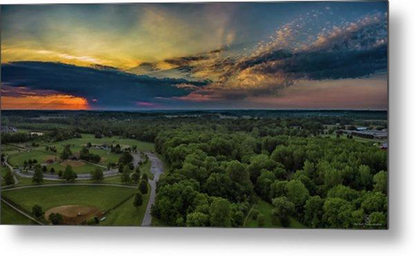 Sunrise Thru The Clouds Metal Print