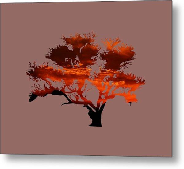 Sunrise Tree 2 Metal Print