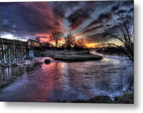 Sunrise Trestle #1 Metal Print