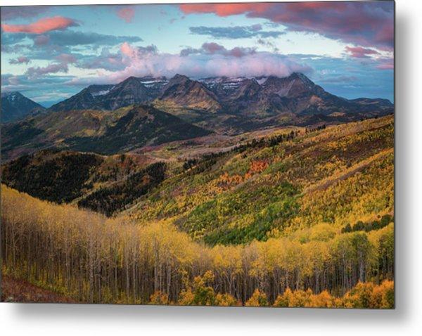 Sunrise View Of Mount Timpanogos Metal Print