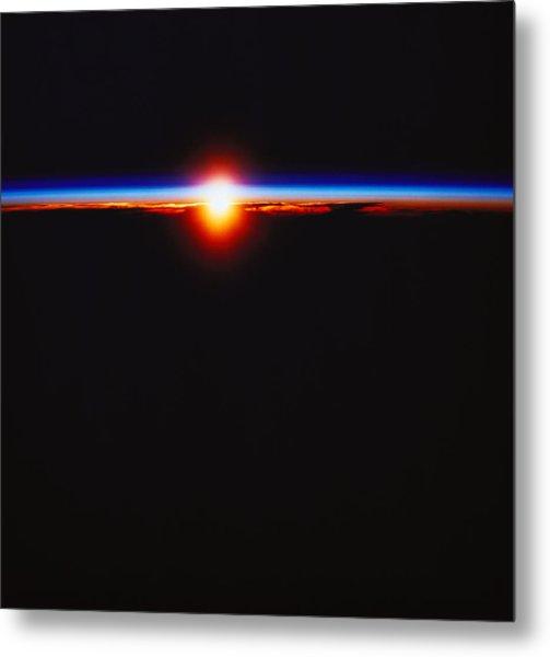 Sunrise Viewed From Space Metal Print