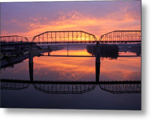 Sunrise Walnut Street Bridge 2 Metal Print