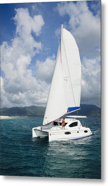 Sunsail Catamaran Metal Print