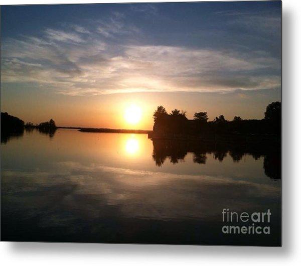 Sunset @ Rend Lake Metal Print