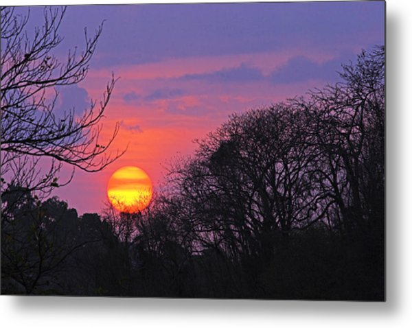 Sunset 1-st Lucia Metal Print