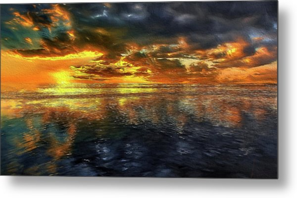 Sunset #95 Or Sunset Over The Atlantic. Metal Print