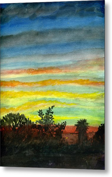 Sunset #27 Backyard Metal Print