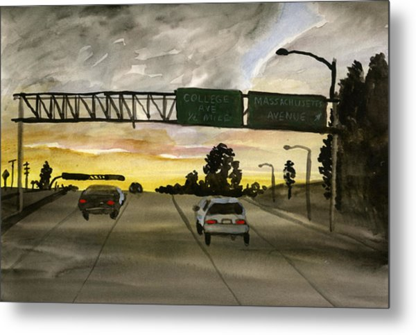 Sunset #28 Freeway Metal Print