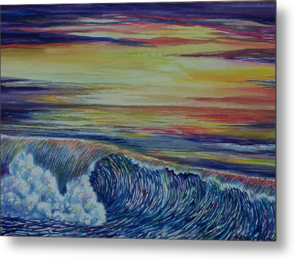 Sunset 3 Metal Print by Arnold Hurley