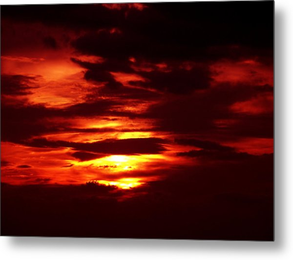 Sunset 3 Metal Print by Evelyn Patrick