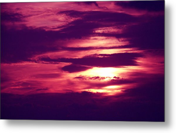 Sunset 4 Metal Print by Evelyn Patrick