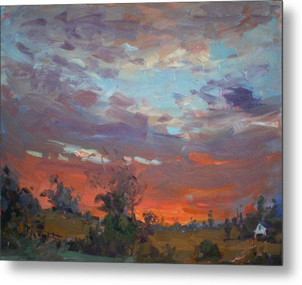 Sunset After Thunderstorm Metal Print