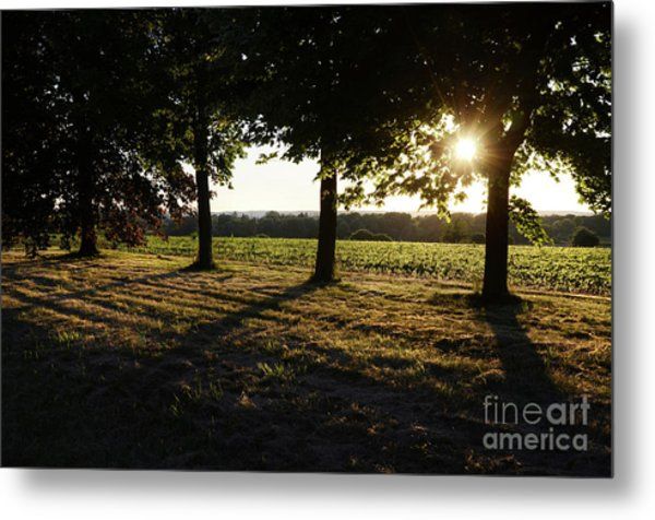 Sunset Along Elgin Mills Road-2 Metal Print