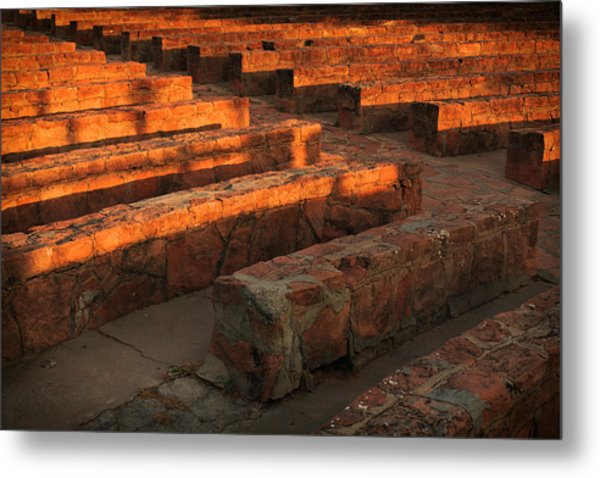 Sunset, Amphitheatre Metal Print
