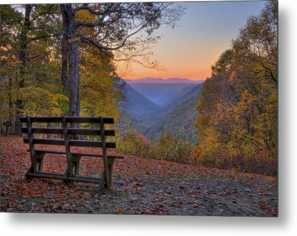 Sunset At Babcock Metal Print by Williams-Cairns Photography LLC