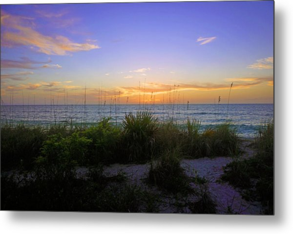 Sunset At Barefoot Beach Preserve In Naples, Fl Metal Print