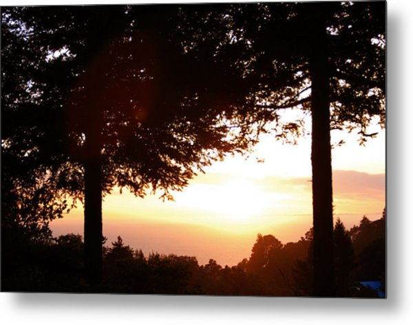 Sunset At Big Sur Metal Print
