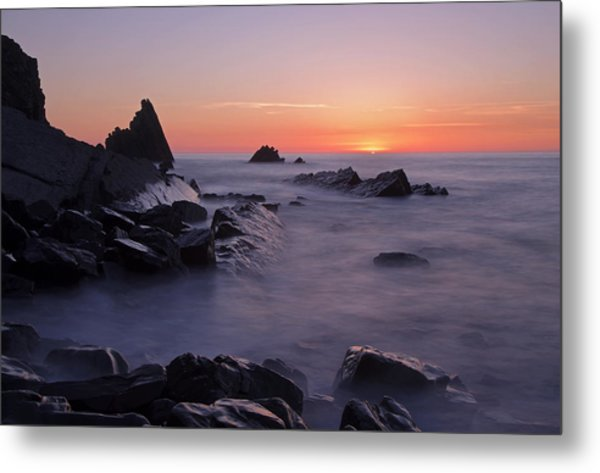 Sunset At Blegberry Beach Metal Print
