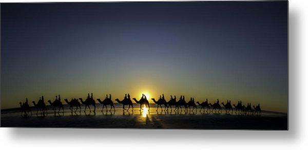 Sunset At Cable Beach Metal Print