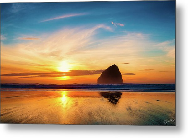 Sunset At Cape Kiwanda Metal Print