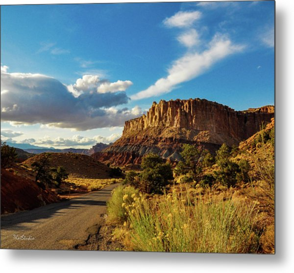 Sunset At Capitol Reef Metal Print