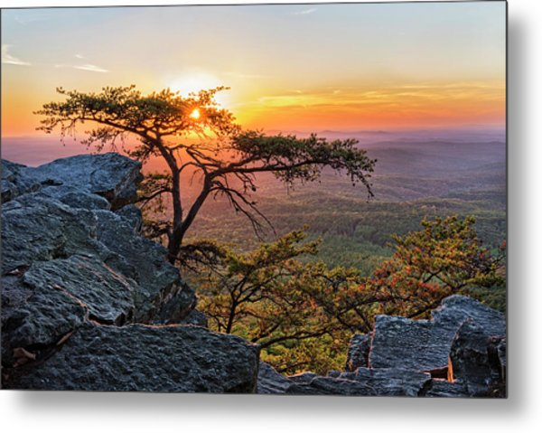 Sunset At Cheaha Overlook 1 Metal Print